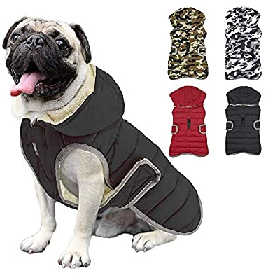 Etechydra Dog Jacket Winter Warm Detachable Hat,Reflective Sweater Clothing Outfits Jackets Dogs Waterproof Dog Vest Suitable For Small medium and large dogs,XXL