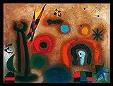 Joan Miro Libelle mit roten Fluegeln Poster Kunstdruck Bild