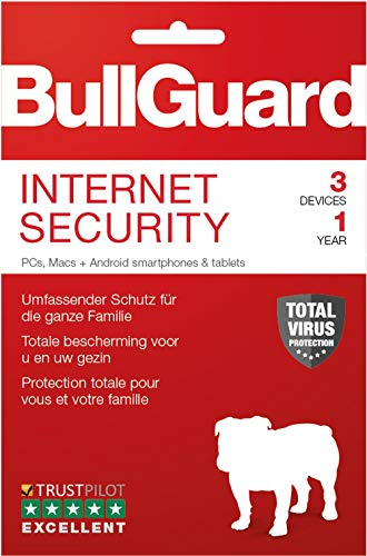Bullguard Internet Security 2019 - Lizenz für 1  Jahre 3 Geräte! Windows|MacOS|Android [Online Code]