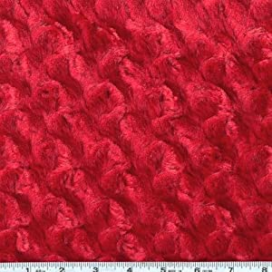 Shannon Fabrics Minky Rose Cuddle, Red