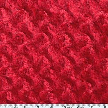 Shannon Fabrics Minky Rose Cuddle, Red
