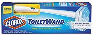 Clorox ToiletWand Disposable Toilet Cleaning System Starter Kit with Caddy, 1ct