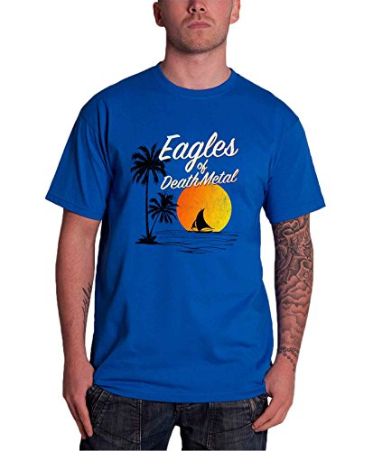 Eagles of Death Metal Sunset Band Logo New Heren Blauw T-shirt