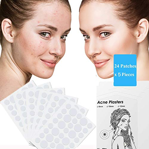 Hydrocolloide acne-Patch d'acné invisible,5 feuilles