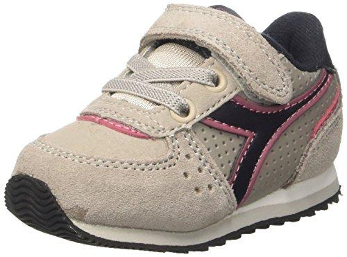 Diadora Malone S I, Sneaker a Collo Basso Bambino, Grigio (Grigio Nuvola/Argento), 23 EU