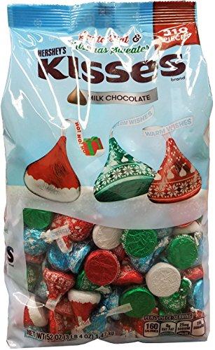 Hershey's Kisses Milk Chocolate Santa Hat & Kissmas Sweater 310 Pieces (52 Ounces/3 Pounds 4 Ounces)
