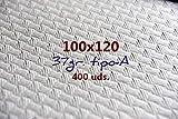 Un Uso Mantel Papel Blanco 100x120 35gr Caja 400UD.