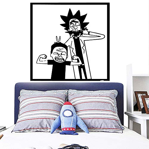 HNXDP Spaß Cartoon Doktor Home Decor Wandbild Wandaufkleber für Wohnzimmer Vinyl Kinderzimmer Wandkunst Aufkleber 43cmx43cm