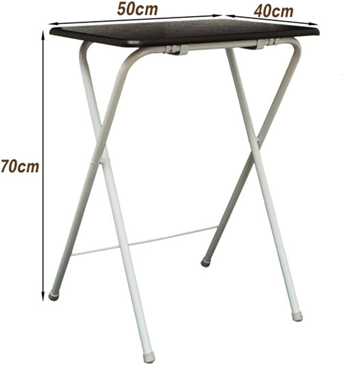 YNN Folding Table Steel Square Table Notebook Table Sundries Table Small Table Folding