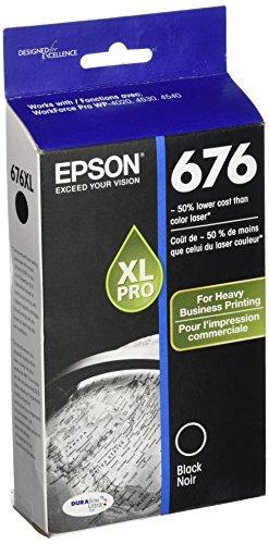Epson T676XL120 DURABrite Ultra 676 Inkjet Cartridge -Black