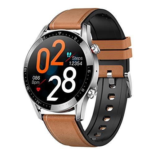 YDK New Smart Watch Ladies Men Bluetooth Llamada A La Presión Arterial Rastro Cardíaco Fitness Tracker Smartwatch para Android Iososmartwatch,H