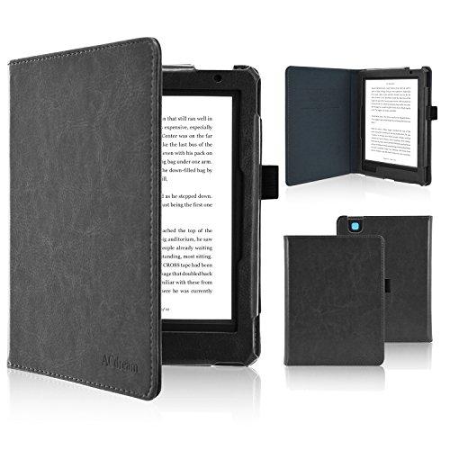 Fskying Kobo Aura Edition 2 beschermhoes voor Kobo Aura Edition 2, premium lederen beschermhoes voor e-reader met automatische slaap- / waakfunctie