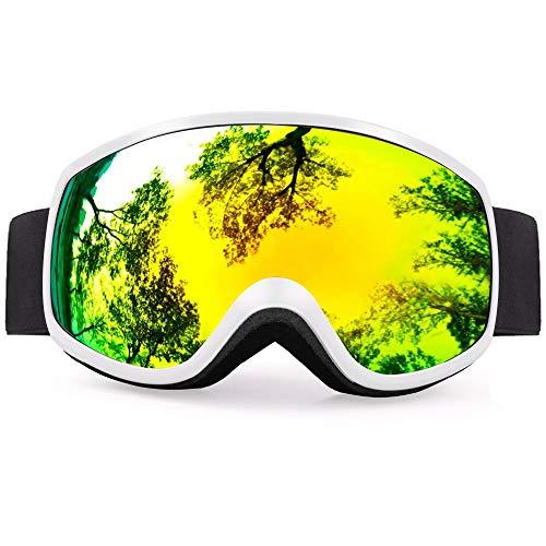 Buy Bargain XIONGHAIZI Gafas de esquí lentes coloridas invierno Nieve deportes Snowboard gafas Anti...