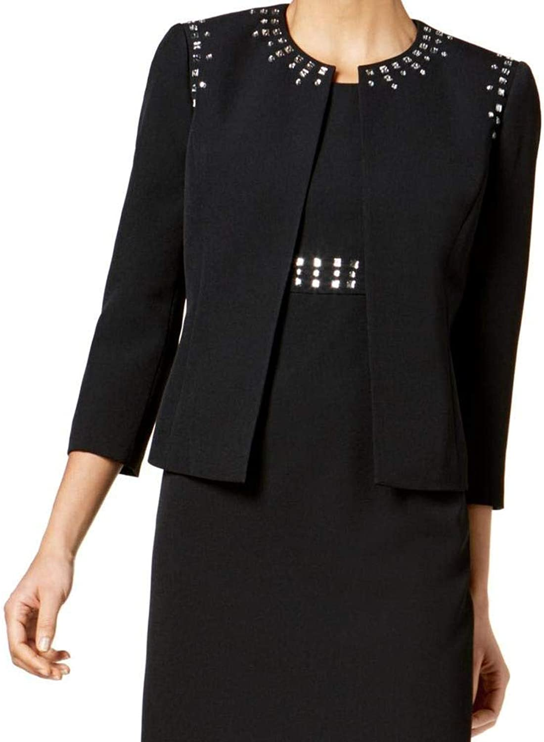 Kasper Womens Embellished Business OpenFront Blazer