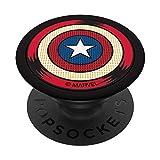 Marvel Captain America Shield Halftone Retro Icon PopSockets Agarre y Soporte para Teléfonos y Tabletas