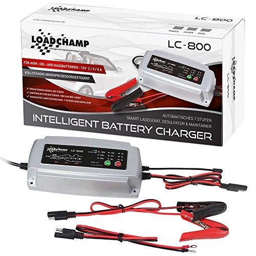 Loadchamp 2A 4A 8A 12V Batterie Ladegerät Blei Säure AGM Gel Calcium Automatik Ladegerät KFZ Motorrad Akku