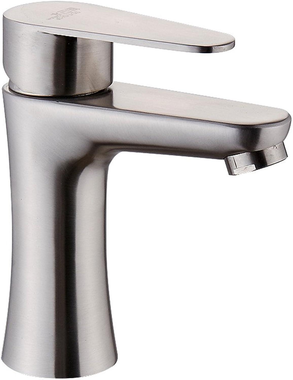 ETERNAL QUALITY Bad Waschbecken Wasserhahn 304 Edelstahl Einloch-Waschbecken Badezimmerschrank Drehbaren Wasserhahn