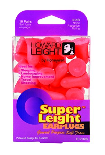 Howard Leight by Honeywell Super Leight General-Purpose Disposable Foam Earplugs, 10-Pairs (R-01669)