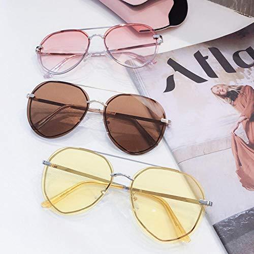 BHLTG Gafas de Sol Hombres y Mujeres Caja Grande Colorido Océano Amarillo Espejo Espejo UV Gafas de Sol Deportes al Aire Libre Conducción Espejo de conducción-1