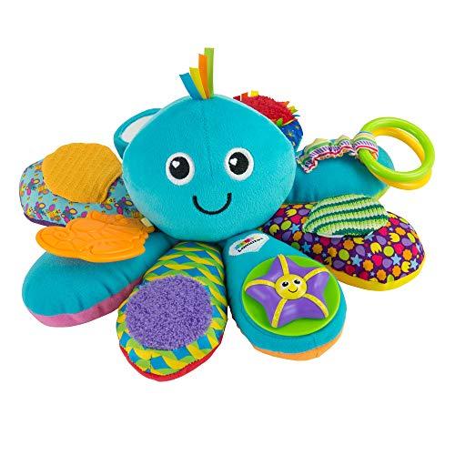 Lamaze LC27206 Babyspielzeug Octivity-Spielkrake mehrfarbig, hochwertiges Kleinkindspielzeug, vereint Kuscheltier und Greifling, Krake Plüschtier, fördert die Motorik, Ideales Weihnachtsgeschenk, ab 6 Monate