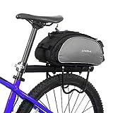 Lixada Bolsa Trasera para Bicicleta Multifuncional Bolsa de Asiento Trasero Bolsa de Hombro...