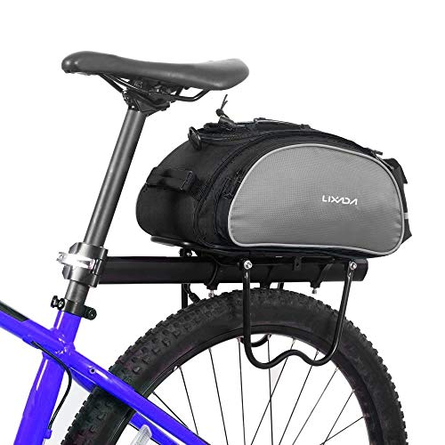 Best Review Of Lixada Bicycle Rack Bag 13L Waterproof Cycling Bike Rear Seat Cargo Bag MTB Road Bike...