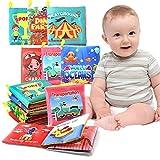 HebyTinco 6 Stücke Stoffbuch für Babys, Stofftuchbücher mit Motiven, Für Baby Badebuch, Für Kleinkinder Kinder, Mein erster Bilderbuch Babyspielzeug frühe Entwicklung Stofftiere