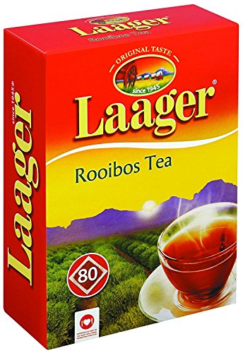 Laager South African Rooibos Tea – 80 count, 7 oz, 100% Natural Tea, Caffeine Free, Healthy and...