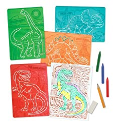 5. Melissa & Doug Textured Dinosaur Stencils (4pcs)