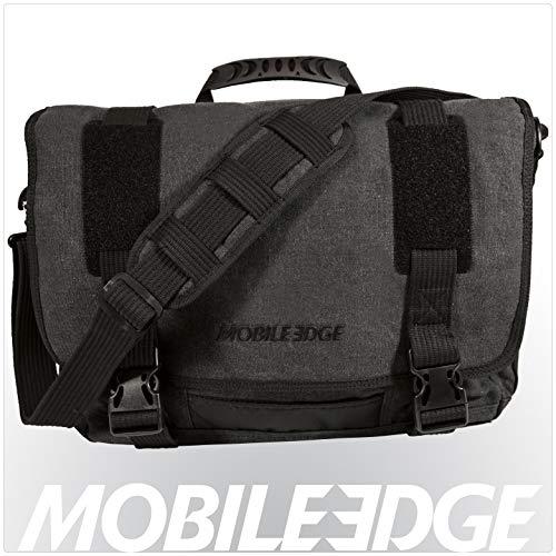 Mobile Edge Laptop Eco Messenger Eco-Friendly, 17.3 Inch Cotton Canvas, Charcoal for Men, Women, Business, Student MECME5, Ash Eco Friendly Messenger Bag
