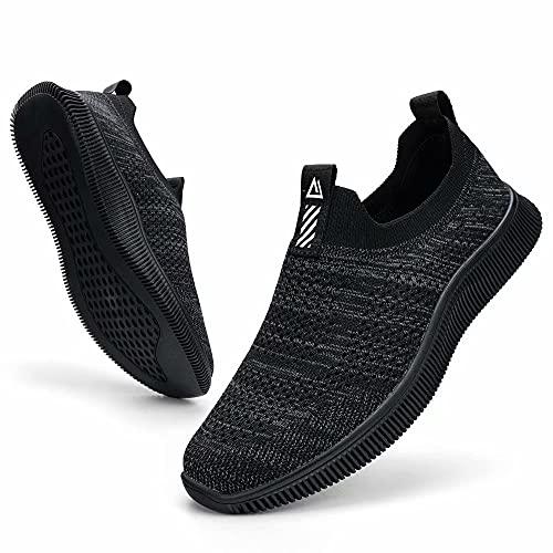 MrToNo Slip On Sneaker Herren Turnschuhe Atmungsaktiv Sportschuhe Leichte Laufschuhe rutschfest Joggingschuhe Straßenlaufschuhe Bequem Outdoor Walkingschuhe-HEIHUI-42