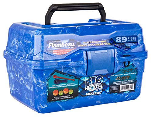Flambeau Outdoors 355BMR Big Mouth Tackle Box - Blue Swirl - 89-Piece Kit, One Size