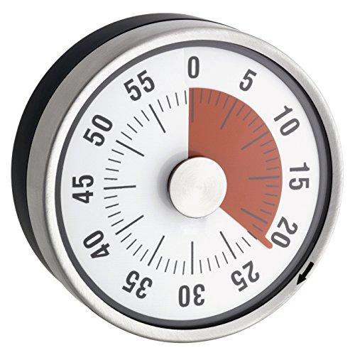 """TimeTex Zeitdauer-Uhr\""""Automatik\"""" Compact - rote Scheibe - mit Magnet - zeigt Restzeit an - Durchmesser 78 mm - läuft ohne Batterien - 61970"""
