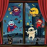 Vancavoo Halloween Pegatinas de Ventana Doble Cara Pegatinas