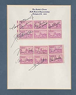 President George H.W. Bush - Stamp(s) Signed with co-signers