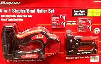 Snap-on 4-in-1 Electric Stapler & Brad Nailer with 800 Pc Nails & Staples Set