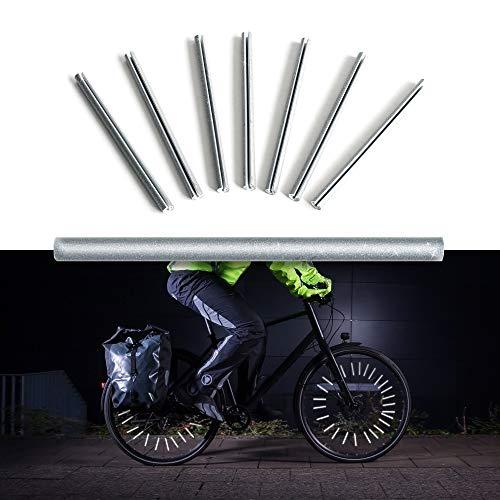 Lumidea Catarifrangenti Bici 3M Catarifrangenti Bicicletta Clip 48 Pezzi Realizzati con Materiale rifrangente 3M...