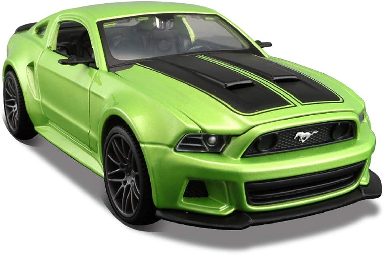PENGJIEModel 1 24 Ford Mustang GT Simulation Car Model Alloy Super Running Toy Car Model (color   Green)