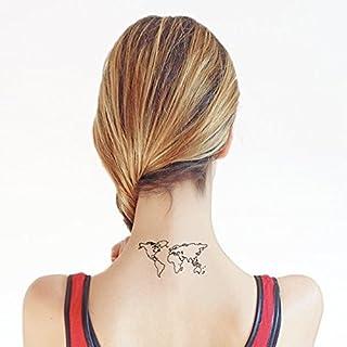Mappamondo - Tatuaggio temporaneo (Set di 2)
