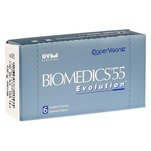 Biomedics 55 UV Evolution lentes de contacto (R: 8.8 / D: 14.2 / +03.50 Diop) Pack de 6