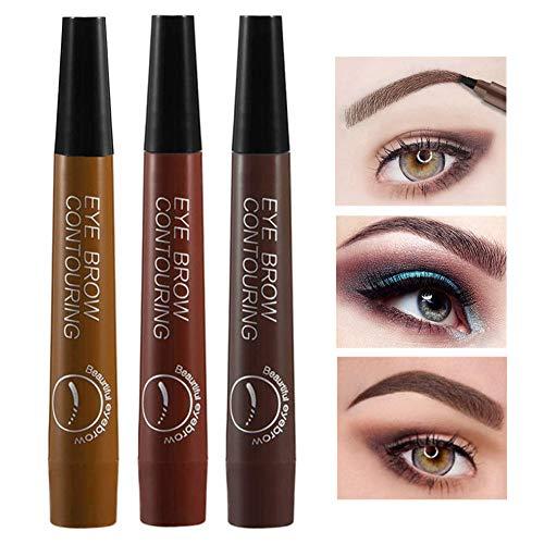 Augenbrauenstift set, Eyebrow Tattoo Pen, Tattoo Sense Flüssige Augenbraue mit 3 Farben, Permanent...