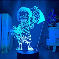 3D LED錯視ランプ アニメワンピースランプ子供ナイトライト用子供寝室装飾ライトusbデスクナイトライトギフト