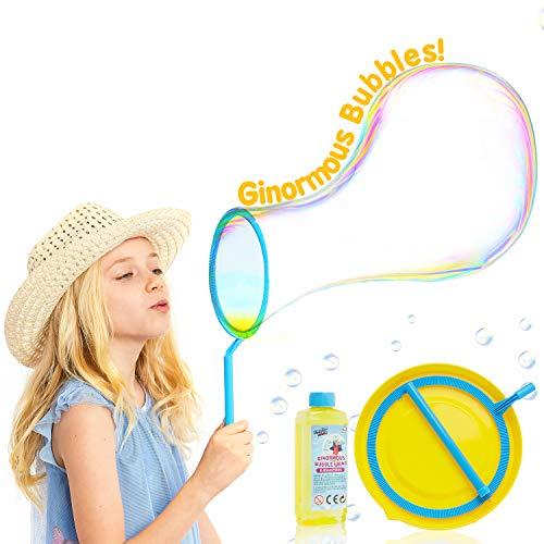 KreativeKraft Seifenblasen, XXL Seifenblasen Kinder, Outdoor Spielzeug für Kindergeburtstag, Mega Bubbles Set mit Seifenlauge Flüssigkeit Inbegriffen, Seifenblasen Hochzeit Kinder
