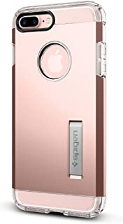 Spigen Tough Armor iPhone 7 Plus/iPhone 8 Plus Case with Extreme Heavy Duty Protection and Air Cushion Technology with Kickstand for Apple iPhone 7 Plus 2016 / iPhone 8 Plus 2017 - Rose Gold