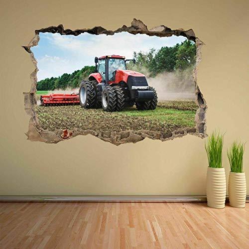 HAOGG 3D pegatinas de pared rotas Tractor Maquinaria Agrícola Agricultura Pegatinas De Pared Pegatinas Murales