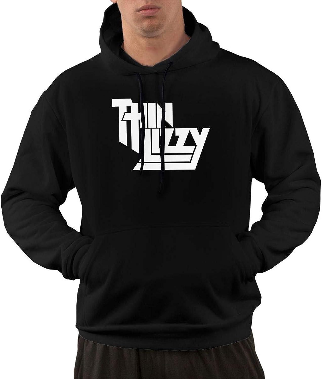 NolanO Thin Lizzy Mens Hoodies Hooded Sweatshirt With Pocket Black