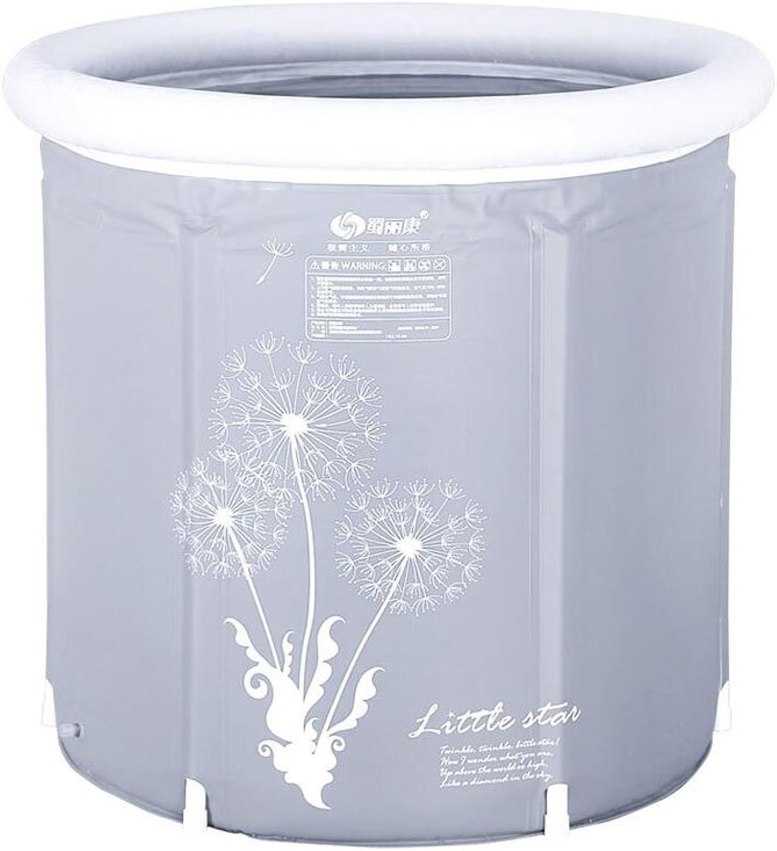Bathtub ZI LING SHOP- Plastic Inflatable Thickening Adult Folding Bath Barrel Bath Tub (Size   S)
