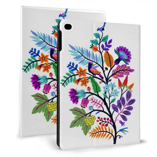 Estuche Protector de Cuero Inteligente Ultra Delgado para iPad, Flores con Motivos orientales vectoriales Floral Original para iPad Mini 4/5 7,9 Pulgadas con función automática de Reposo/activación