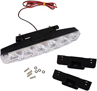 RUNGAO 1Pcs White 12V 6 LED Daytime Running Light DRL Car Fog Day Driving Lamp Lights Kit