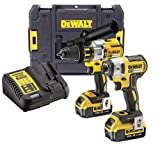 DEWALT DCK276M2T 18v Brushless DCD996 Combi Drill DCF887 Impact Driver 2 x 4.0ah, 18 V, Yellow